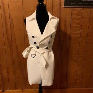 NWOT whbm sleeveless double breasted topper vest